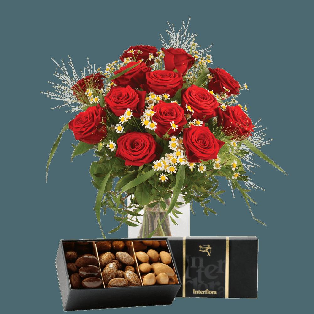 Rouge idylle et ses amandes au chocolat