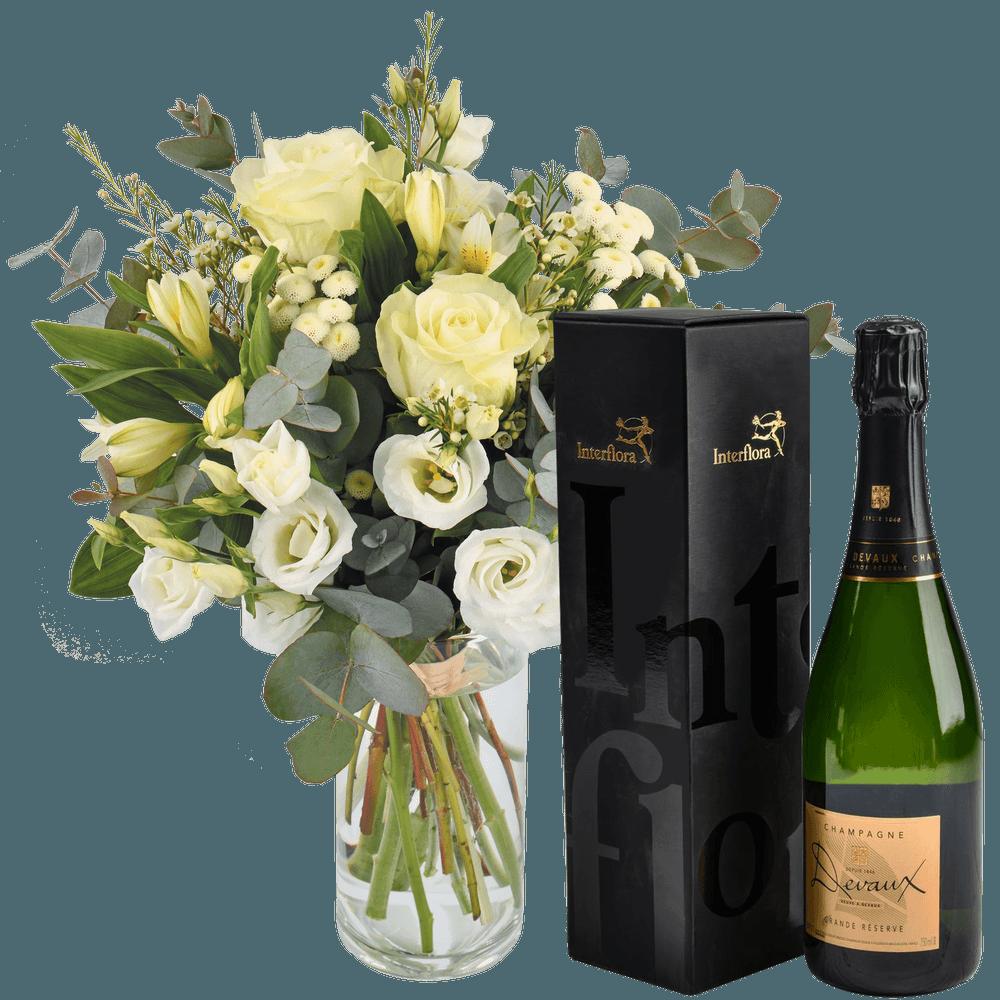Paradis blanc et son champagne Devaux