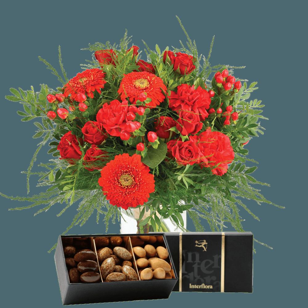 Pomme d'amour et ses amandes au chocolat