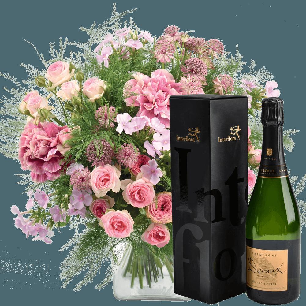 Velours et son champagne Devaux