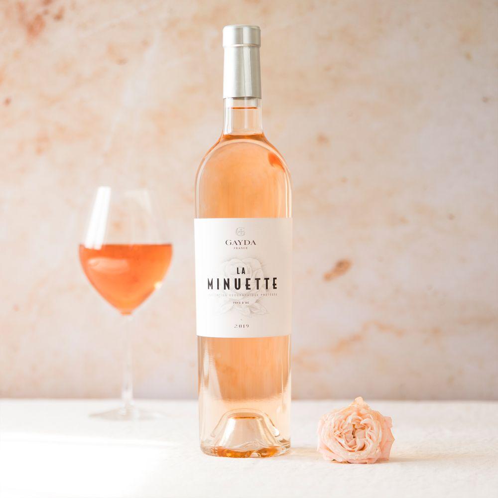Olivier et son vin rosé La Minuette
