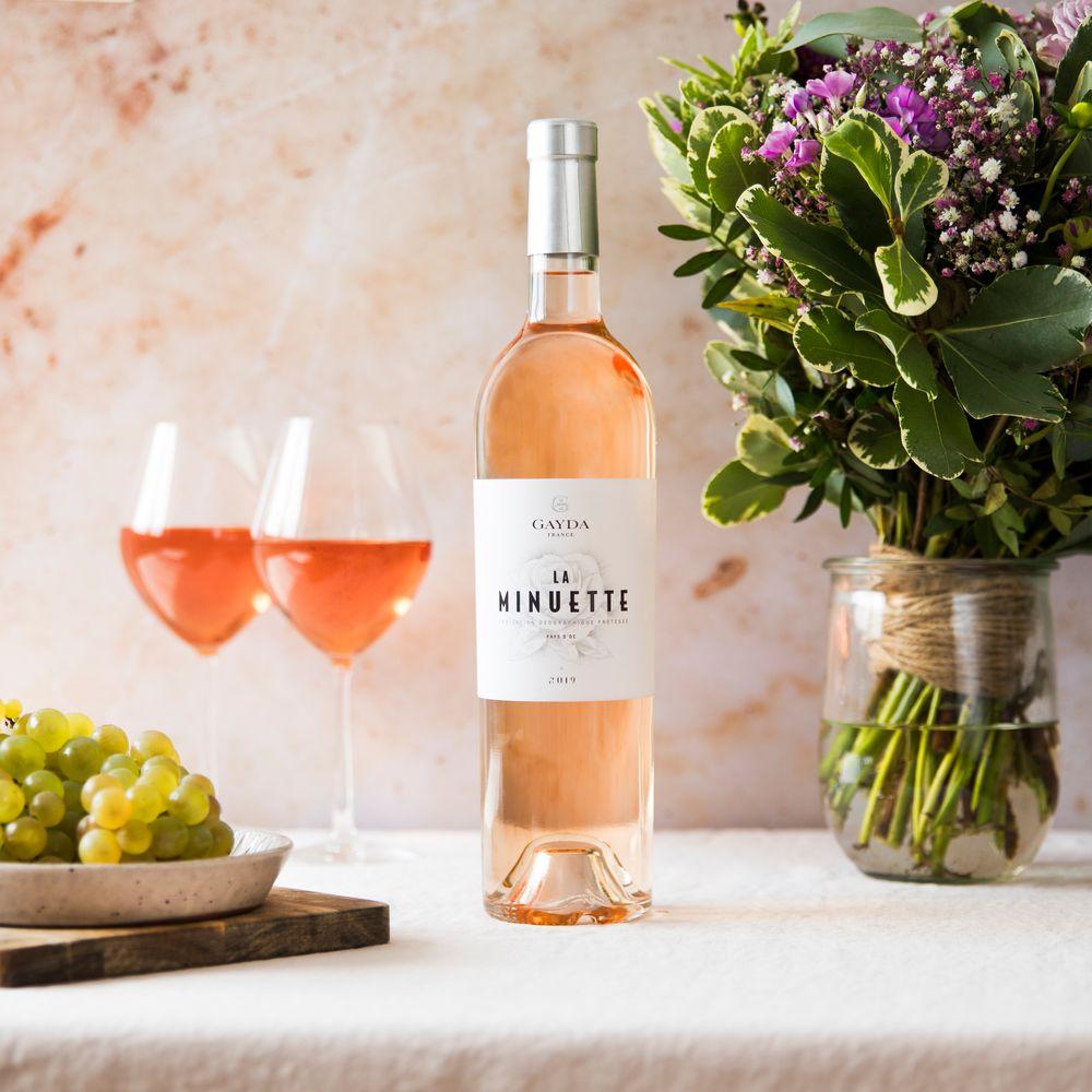 Vin rosé La Minuette et son coffret apéritif FAUCHON
