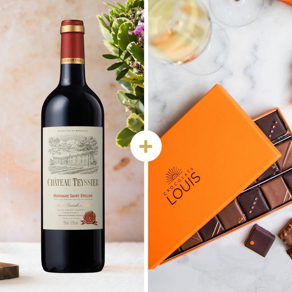Château Teyssier 2014 et ses chocolats