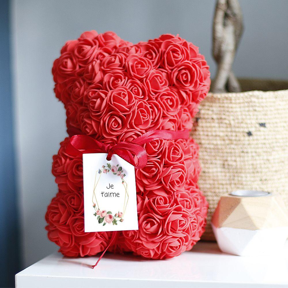 Ourson en roses