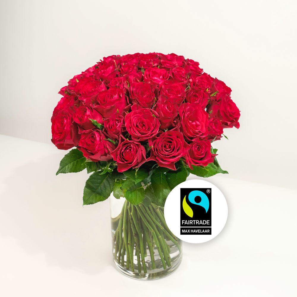 Brassée de roses rouges Max Havelaar