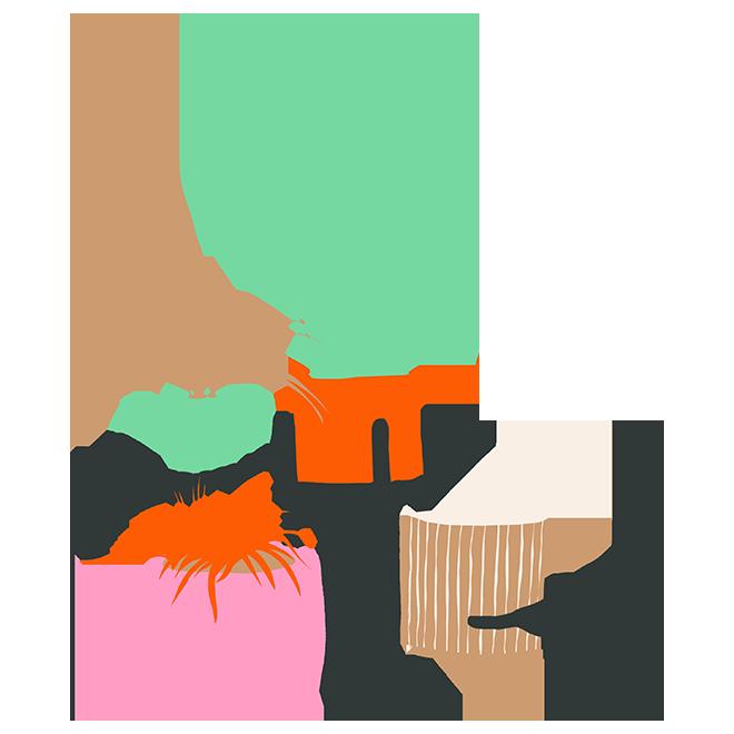 Une collection de cache-pots