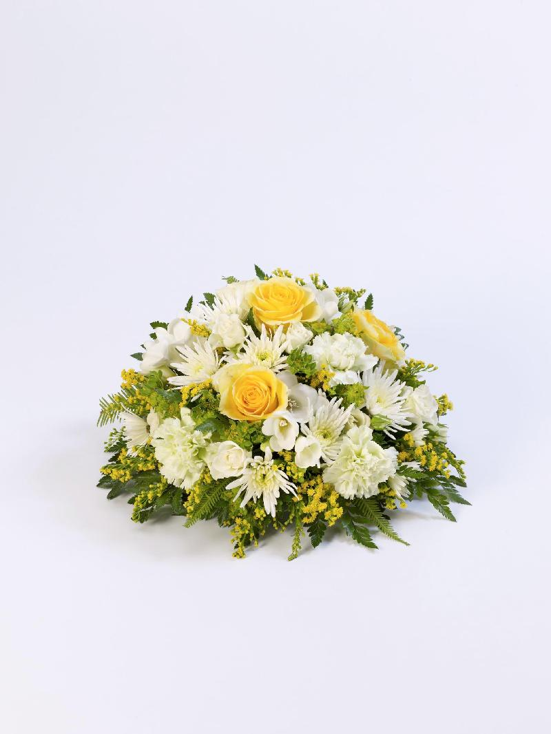 CLASSIC POSY - YELLOW AND WHITE - FUNERAL