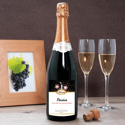 Champagne Anniversaire personnalisé