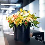 Faire livrer des fleurs au travail