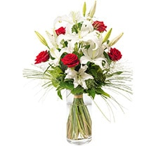 Bouquet Chic Lys Rose Blanc Rouge - ORPHEE