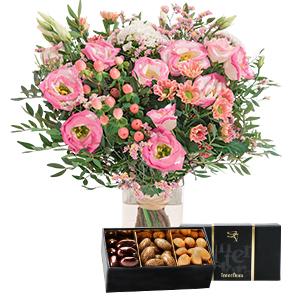 Fleurs et cadeaux Chanson douce et son écrin d'amandes gourmandes Fête des Mères
