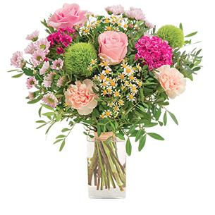 Bouquet de roses Tendre bisou Fête des Mères