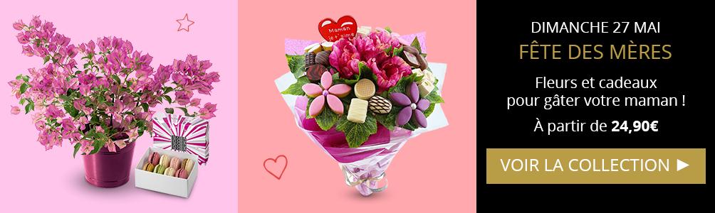 Découvrez nos fleurs et cadeaux pour la fête des mères