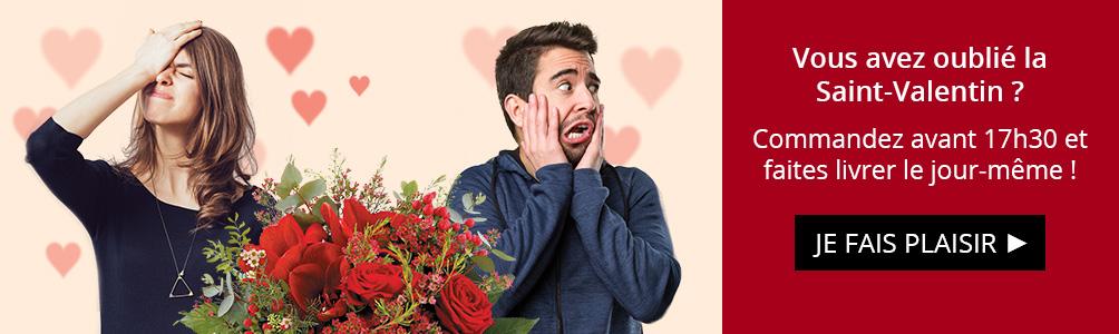 Vous avez oublié la Saint-Valentin ? Commandez aujourd'hui !