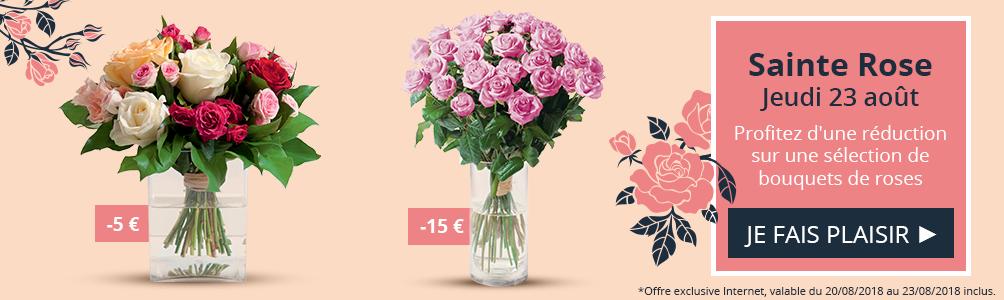 Profitez d'une réduction sur une sélection de bouquets