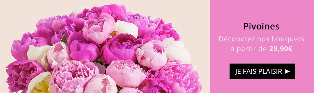 Découvrez nos bouquets de pivoines