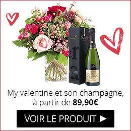 My valentine et son champagne