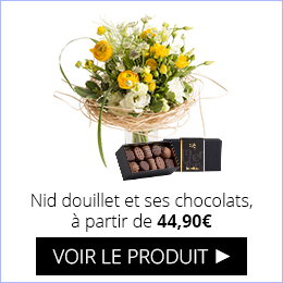 Bouquet Nid douillet et ses chocolats