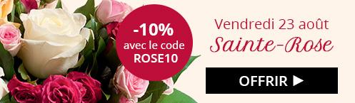 Sainte-Rose : -10% sur tout le site avec ROSE10