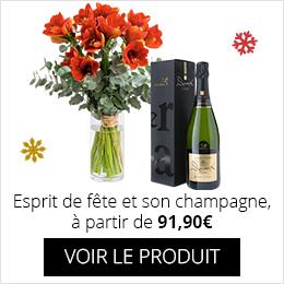 Esprit de fête et son champagne