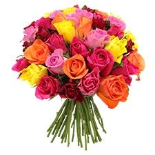 Bouquet de roses Brassée de roses multicolores +10 roses offertes