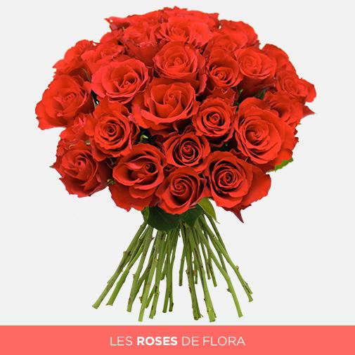 Bouquet De Roses Rouges Par 30 40 Ou 50 Interflora