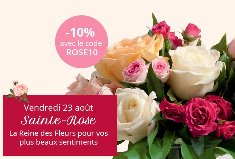 Sainte-Rose : -10% avec le code ROSE10