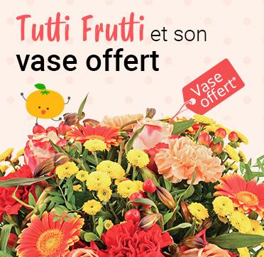 Découvrez notre bouquet Tutti Frutti et son vase offert