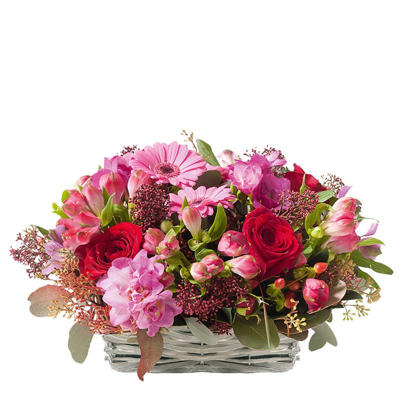 Composition florale gerbera et alstromerias composition for Livraison composition florale