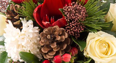 Le centre de table pour un Noël champêtre