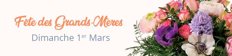 Fleurs et cadeaux pour la Fête des Grands-Mères