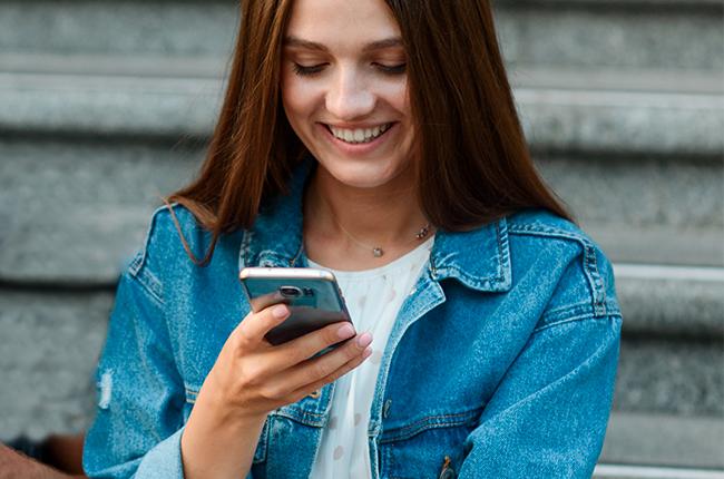 Réception du SMS ou de l'E-mail