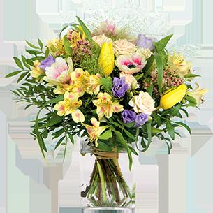 Bouquet de roses Parfum d'enfance Tulipes