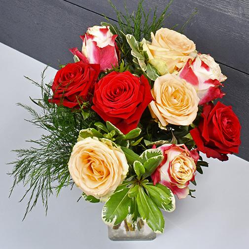 Bouquet de roses Abricotine