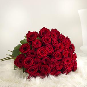 Bouquet de roses A la folie Amour