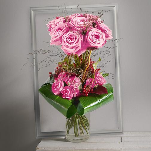 Bouquet de roses Audace rose