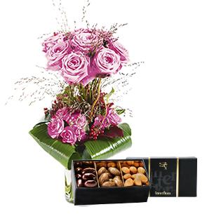 Audace rose et son ecrin d'amandes gourmandes - interflora