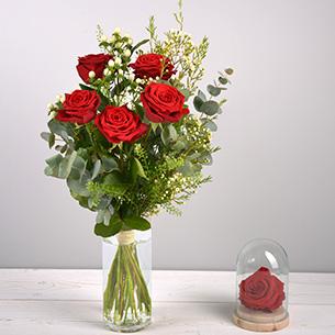 Bouquet de roses Câlin Journée internationale de l'Amitié