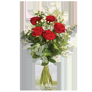 Bouquet de roses Câlin Saint Amour