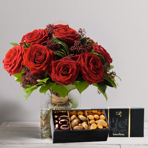 Fleurs et cadeaux Capri et son écrin d'amandes au chocolat