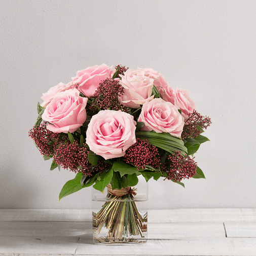 Bouquet de roses Capri rose