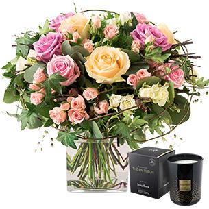 Charme et sa bougie parfumee - interflora
