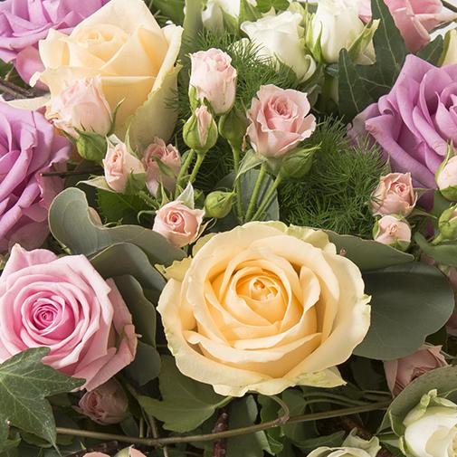 Bouquet de roses Charme et sa bougie parfumée