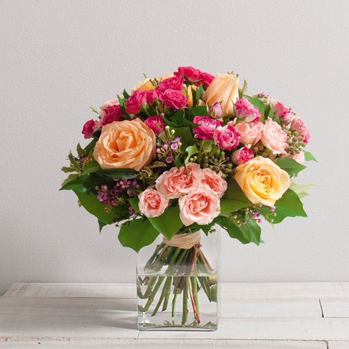 Bouquet de roses Caresse