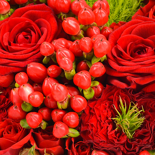 Bouquet de roses Cupidon