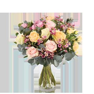 Bouquet de roses Délicatesse Félicitations