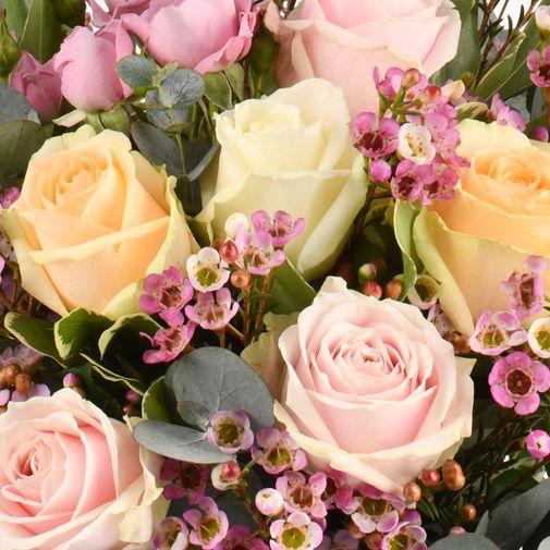 Bouquet de roses Délicatesse