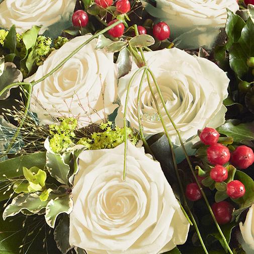 Bouquet de roses Elixir blanc