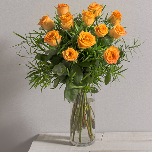 Bouquet de roses Glossy orange