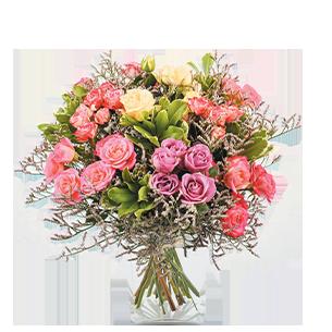 Bouquet de roses Lollipop Collection Remerciements